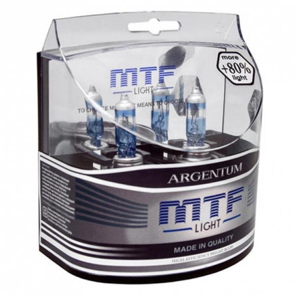 Лампа галогенная H7 Argentum +80%