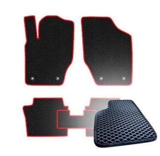 Комплект ковриков EVA - Черная основа, черный кант