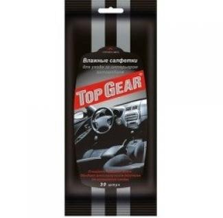 Cалфетки влажные TOP GEAR для ухода за интерьером автомобиля