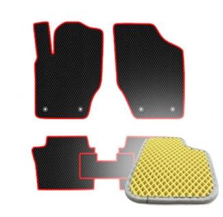 Комплект ковриков EVA - Бежевая основа, серый кант