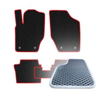 Комплект ковриков EVA - Серая основа, серый кант